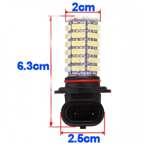 Car 120 LED 3528 SMD HB3 9005 HID White Fog Day Xenon DRL Light Lamp Bulb 12V 10pcs/lot