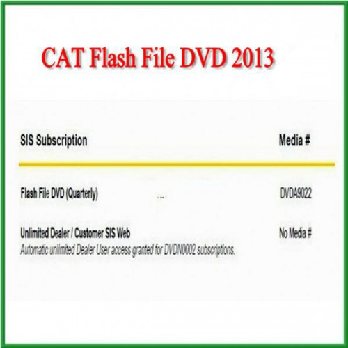 CAT Flash File DVD 2013