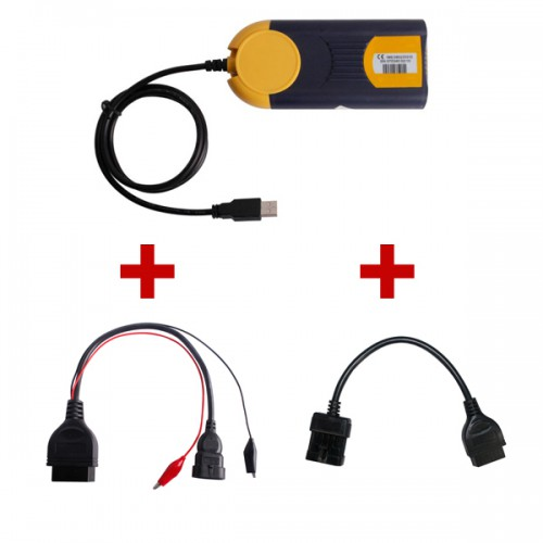 2013V Multi-Diag Access J2534 Plus Opel 10Pin To OBD OBD2 16PIN Plus Per Fiat 3Pin Alfa Lancia To 16 Pin