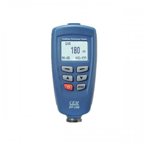 Nuovo Arrivo CEM DT-156 Pro Paint Coating Thickness Meter Gauge Auto F/NF Probe Tester 1250um V-groove