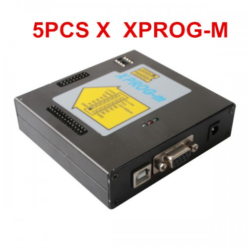 5pcs 2012 Newest Version XPROG-M V5.3 Plus With Dongle