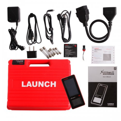 Launch X431 X-431 DIAGUN III 100%  Originale Diagnosi Bluetooth Tablet  DIAGUN 3 OBD2 Mulitmarca ITALIANO