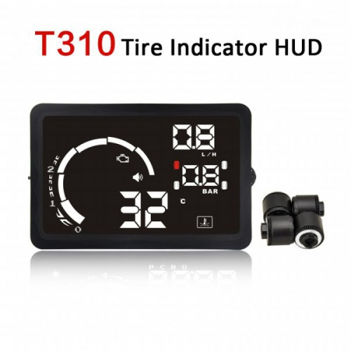 "New 5.5"" LED OBD-II HUD Head Up Display Over Speeding Warning/Speed/KM RPMpm/Shift Light/Temperature+Tire Indicator"