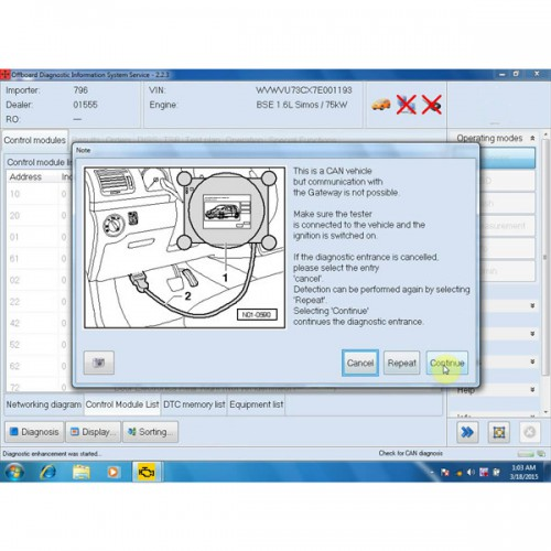 VAS5054A ODIS Software for Import VW Audi ODIS2.23/Faw-VW's OSIS 2.23 /Shanghai VW Skoda OSIS 2.22