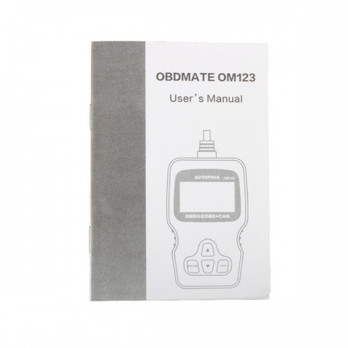 New Arrival OM123 OBD2 EOBD CAN Hand-held Engine Code Reader ( Black Color )