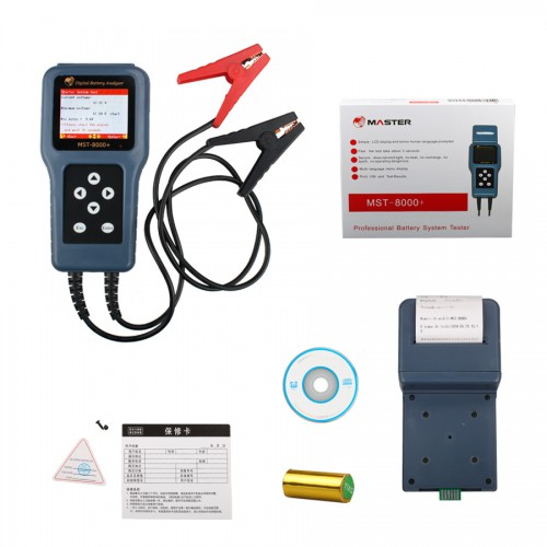 MST-8000+ Digital Battery Analyzer With Detachable Printer