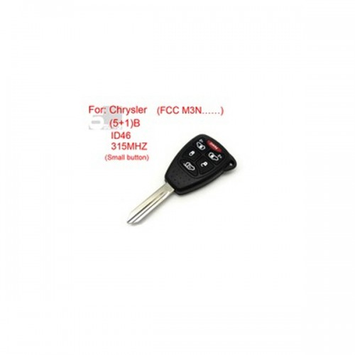 Chrysler Remote key 5+1 Button ID46 315MHZ FCC M3N (Small Button)
