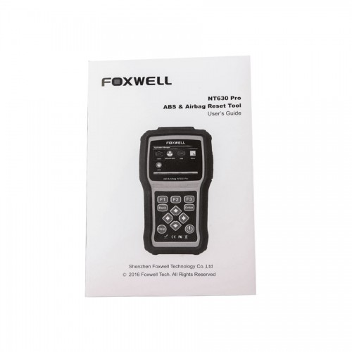 Foxwell NT630 Elite ABS and Airbag Reset Tool with SAS Update Online Lifetime for Free