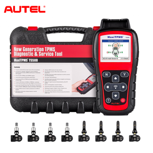 Autel MaxiTPMS TS508K TS508 Pre Tire Pressure Monitoring System Reset TPMS Replacement Tool with 8pc Sensors