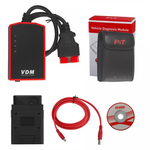Italiano VDM UCANDAS WIFI Full System Automotive Diagnostic Tool V3.9 di alta qualità Con Adapter Per Honda (DHL Gratis) Promo