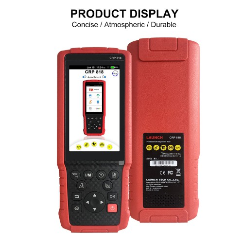 Launch CRP818 Full System OBD2 Diagnostic Tool for Oil Reset/TPMS/EPB/BMS/Injector Programming for European Models