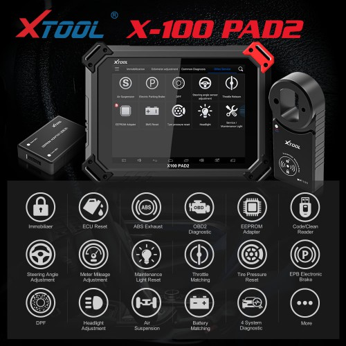(UK Spedizione No Tasse) Xtool X100 PAD2 Special Functions Expert with VW 4th & 5th IMMO