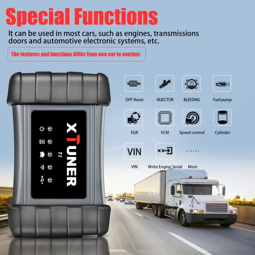 XTUNER T1 Heavy Duty Intelligent Diagnostic Tool with Special Function Supporta WIFI Promo