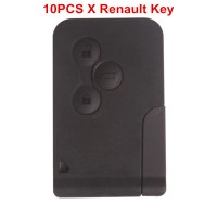 10pcs Renault 3 Button Smart Key 433MHZ