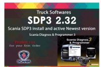 2019 Nuovo Scania VCI & VCI2 SDP3 V2.40.1 Software for Trucks/Buses Without USB Dongle
