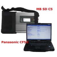 V2019.9 MB SD Connect 4 Star C5 with DTS Monaco & Vediamo Software Plus 4GB Panasonic CF52 Laptop Pre-installed Directly to Use