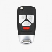 Xhorse VVDI Audi Type Universal Remote Flip Key 4 Buttons Wireless PN XNAU02EN 5pcs/lot