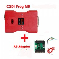 CGDI Prog MB Benz Car Key Programmer plus AC Adapter for Quick Data Acquisition with a Free CGDI MB ELV Simulator