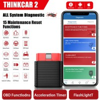 ThinkCar 2 Professionale OBD2 Bluetooth per iOS Android Auto Scanner OBD 2 Strumenti Automobilistici del Lettore di Codice Diagnostico dell'Automobile