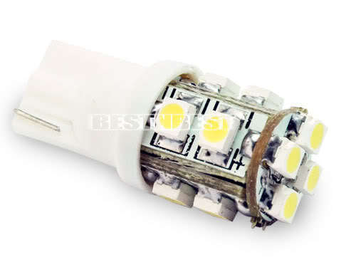 T10 168 194 501 W5W Car White 10 LED SMD Side Wedge Light Bulb Lamp 12V 10pc/lot