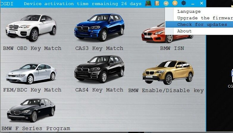 CGDI MSV80 BMW software display