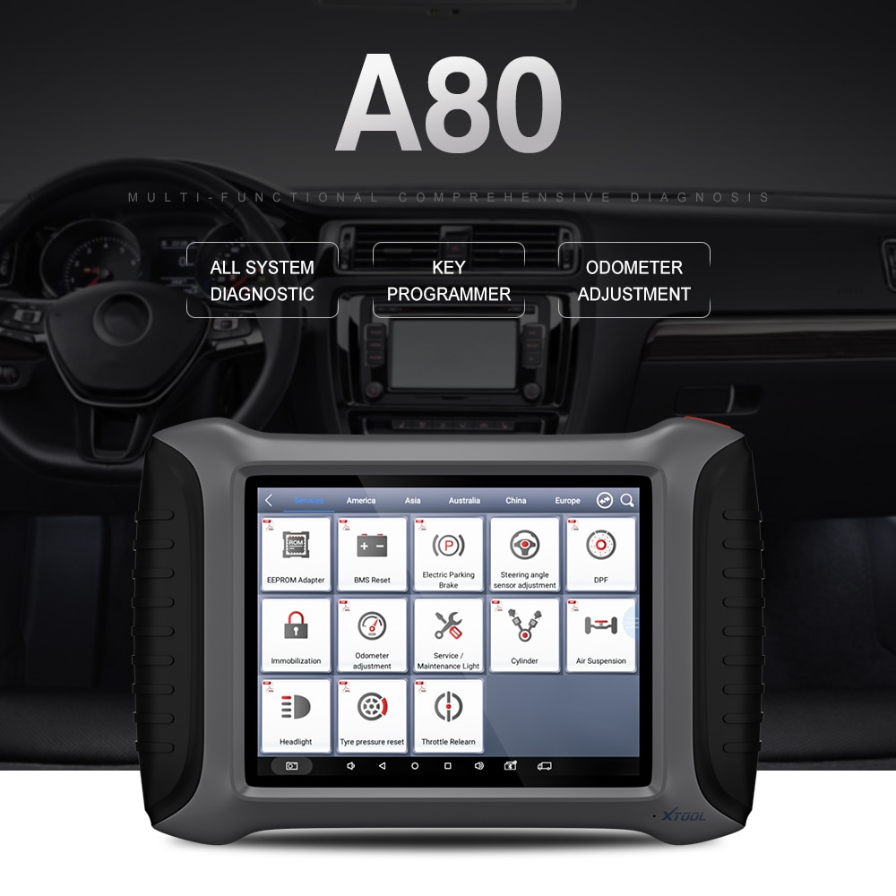 Xtool A80 All System Diagnostic tool display-01