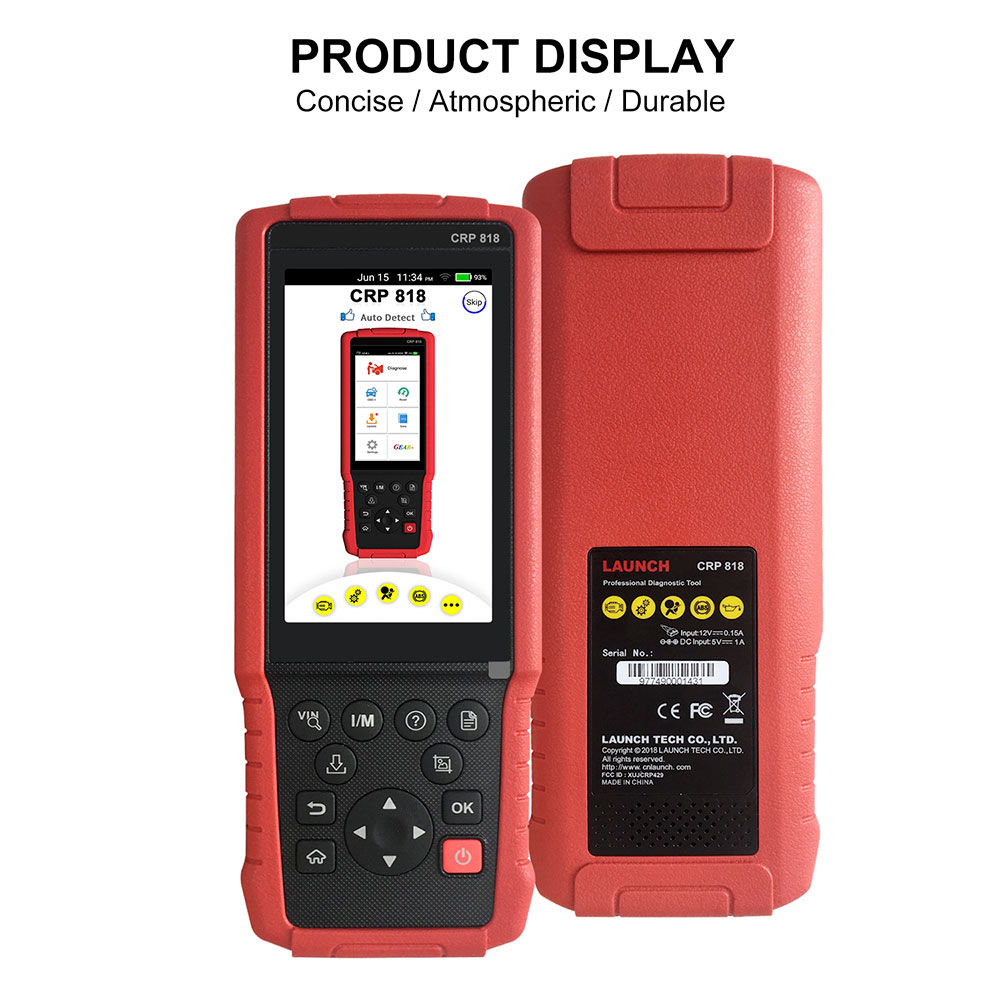 Launch CRP818 Scanner Display - 01