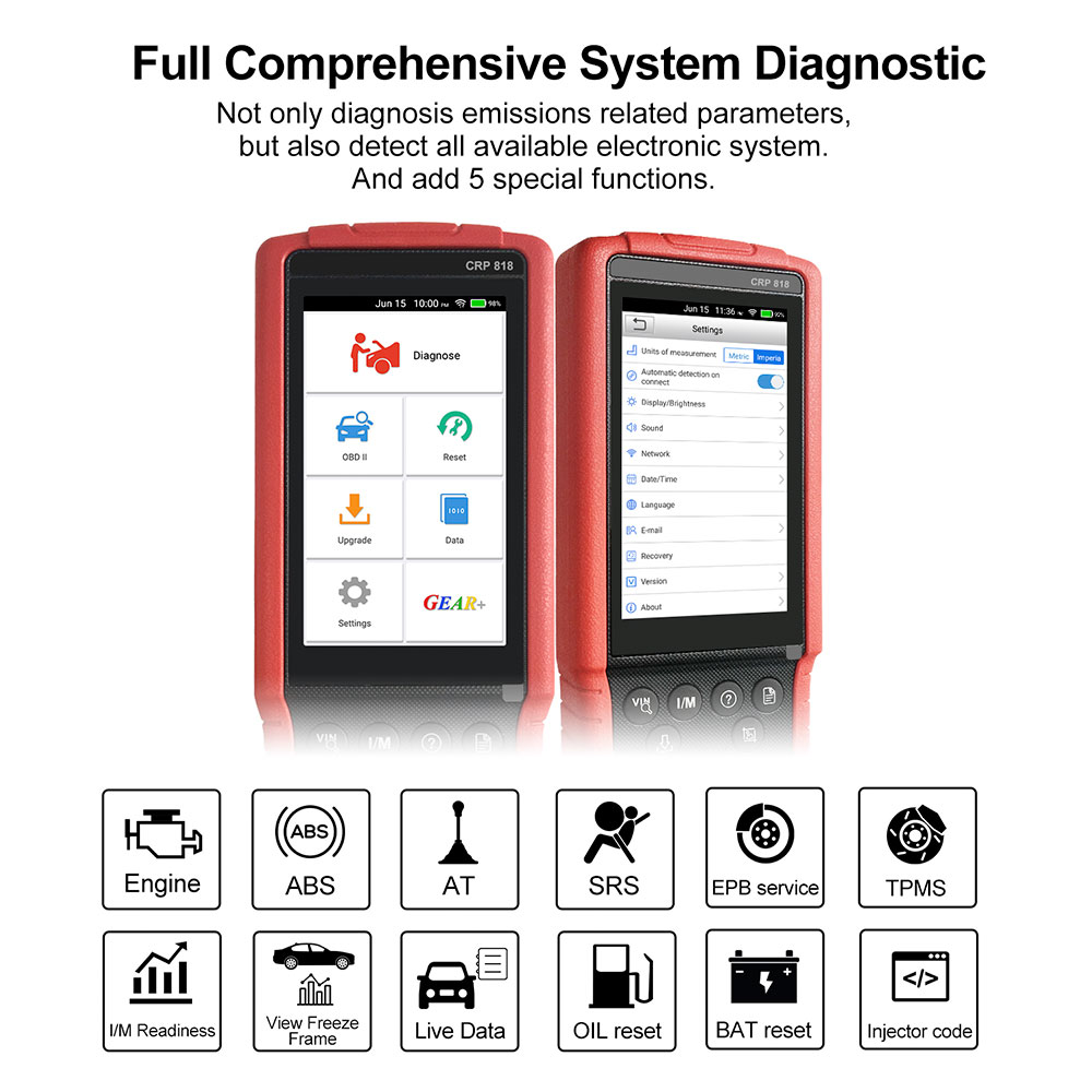 Launch CRP818 Full System OBD2 Diagnostic Tool