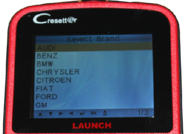 Launch CResetter Vehicle List - 01