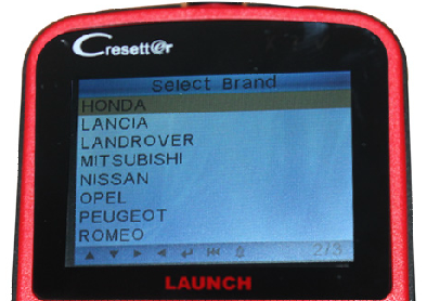 Launch CResetter Vehicle List - 02